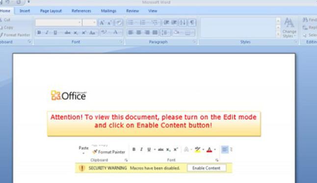 El nuevo virus que se infecta por un documento de Word